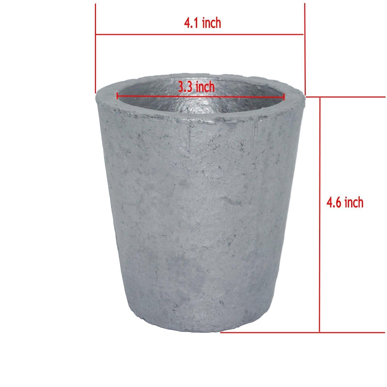 370ML Carburo de silicio Grafito Crucibles Cup horno Fundición ...