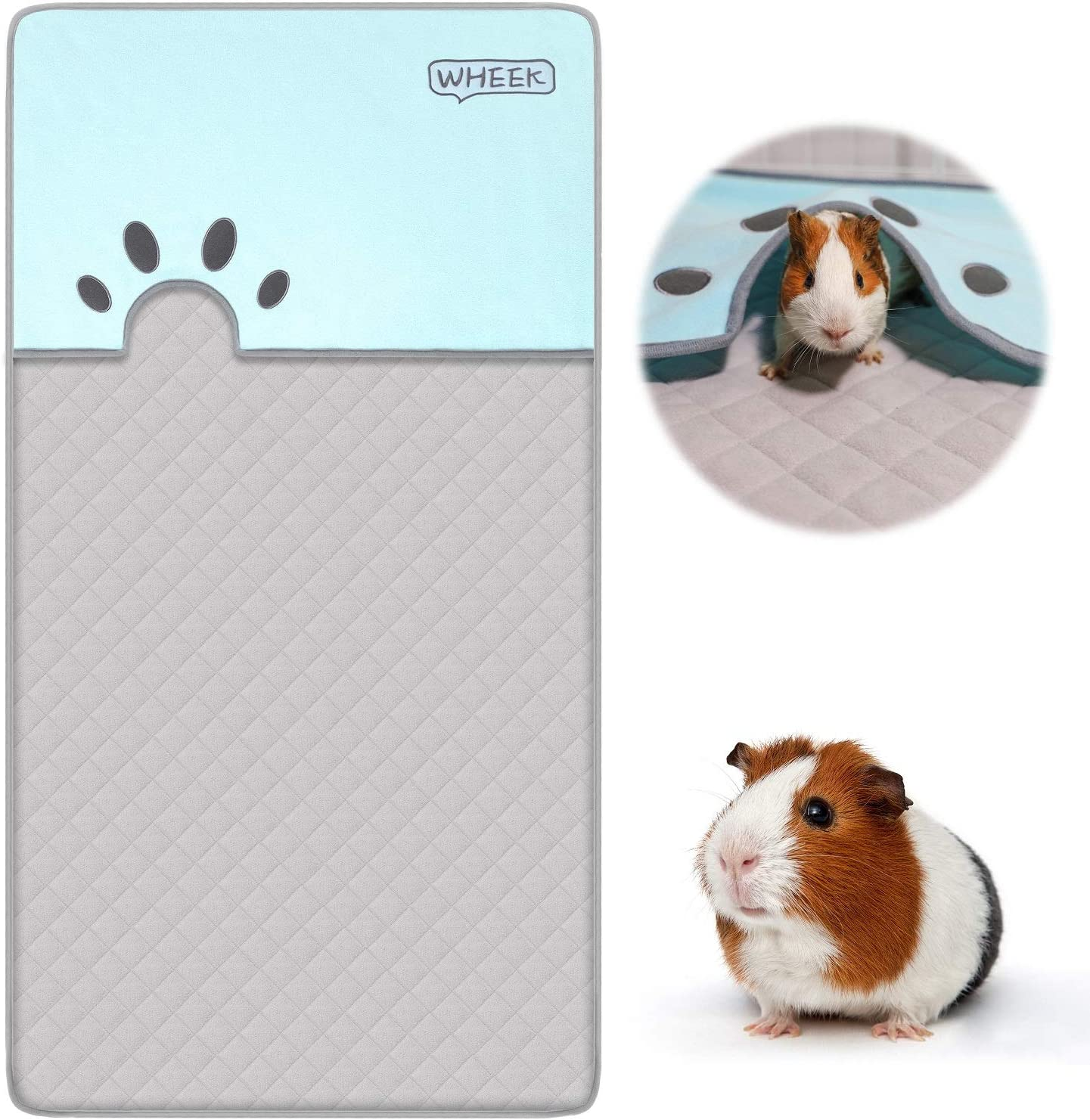 Piggy Blanket Colorful Dots on Black  Guinea Pig C/&C 2x4 Fleece Cage Liner Absorbent Layer Cozy and Clean Rabbit Hedgehog