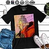 194392aefced Billie Ocean Eyes Singer Eilish Music Big Fan Gift Customized Handmade  T-Shirt Hoodie/