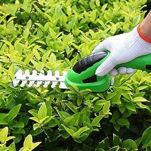 NBVCX Inicio AccesoriosBatería Cortadora de césped Inalámbrico Recargable 2 en 1 Combo de cizalla de arbustos y Cortasetos