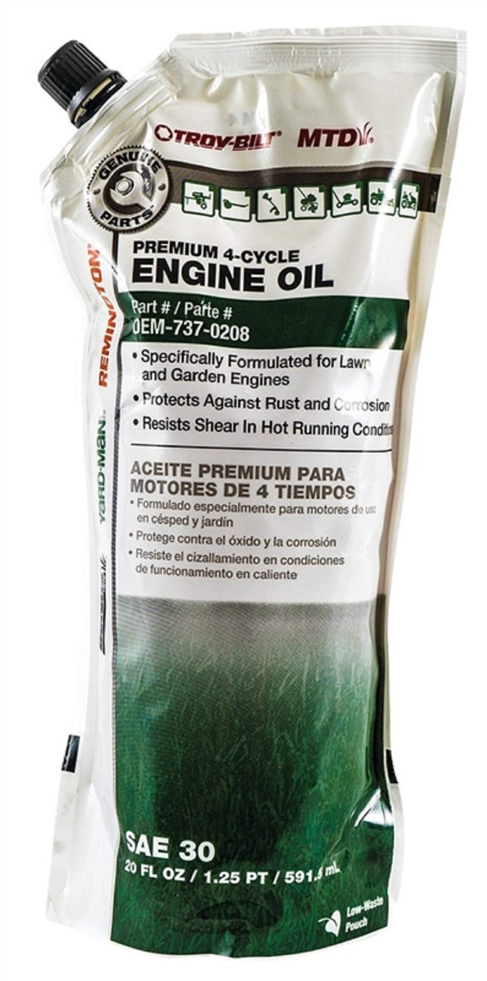 Arnold OEM-737-0208 MTD 4 Cycle Premium Grade Lawnmower Oil 20 oz.44; Pack of 12