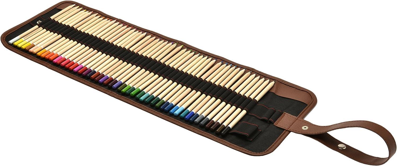 Artina Set de lápices de Colores Torino 49 Piezas en Estuche Enrollable - Lápices de Dibujo para Pintar y esbozos fantástico: Amazon.es: Hogar