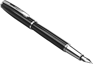 AmazonBasics Refillable Fountain Pen - Fine Point, Black Ink