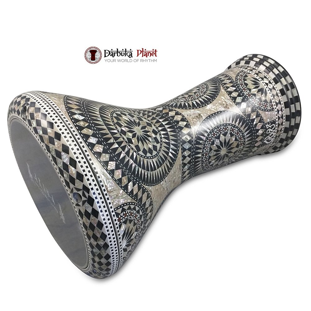 The Arabesque Gawharet El Fan 17'' Mother of Pearl Darbuka by Gawharet El Fan