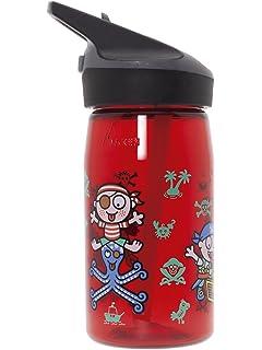 Katuki Saguyaki Botella Infantil de Tritan 0,45L Roja Libre de BPA Jannu(boca