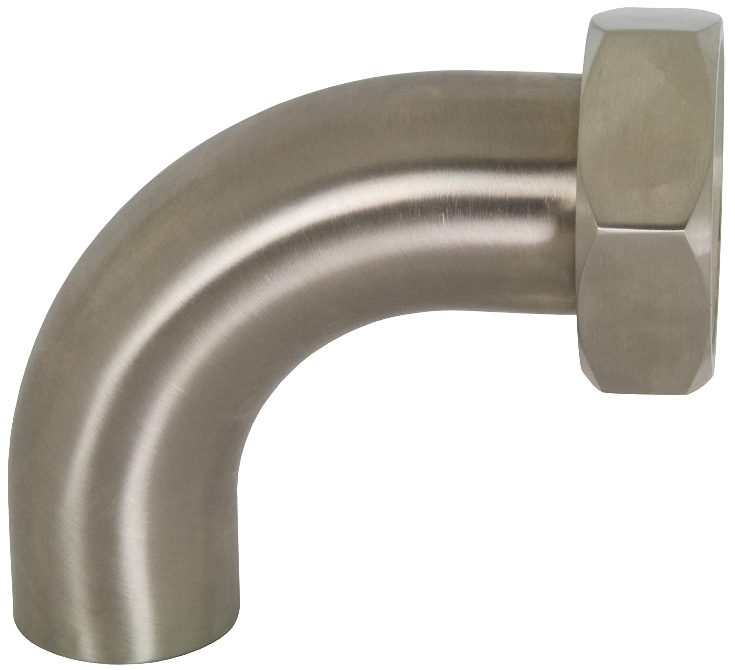 Dixon B2FP-G250 304SS Polished 90 Degree Plain Bevel Seat with Hex Nut 2.5 2.5 Weld Elbow