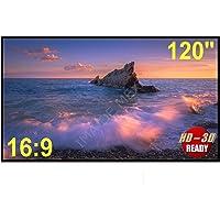 """Lienzo/Tela de Proyección - Proyector 120"""" Pulgadas, Portable HD 16:9 Sin Arrugas, Alta Calidad"""