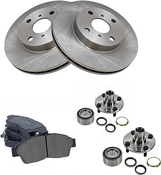 Rear Black Hart Drilled Slotted Brake Rotors Disc and Ceramic Pads Corolla,Prizm