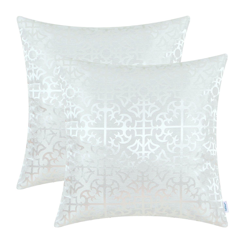 45cm x 45cm CaliTime Copricuscini e federe 2 pacco Cuscino Gettare Cuscino protettore conchiglie per Divano Divano Camera da letto Casa Natale arredamento