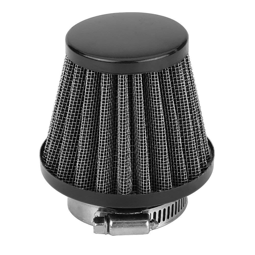 Universal Auto Cold Air Intake Scooter Atv Dirt Pit Bike Air Filter HIgh Flow 42mm Motorcycle Clamp-On Air Intake Filter Kit Black