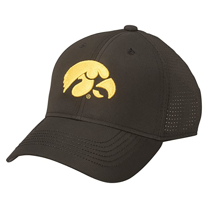 new style 59e9f c220c Ouray Sportswear NCAA Iowa Hawkeyes Cool Breeze Cap, Adjustable Size, Black