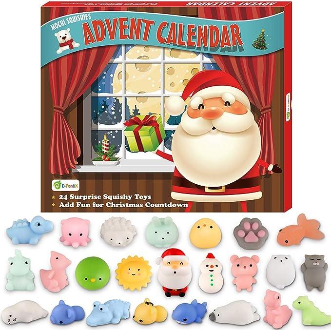 Amazon.com: D-FantiX Christmas Advent Calendar 2020 Soft Rubber Toy Christmas Advent Calendars Gift 24Pcs for Kids Kawaii Animals Santas Toys Xmas Countdown Calendar: Toys & Games