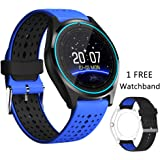 Smart Watch, DICEKOO V9 Bluetooth Smartwatch Touchscreen with Camera, Smartphones Support SIM/TF Card Insert with Health Management for Android Samsung iOS iPhone 7 Plus 6s Men Women Kids Boys (Blue)