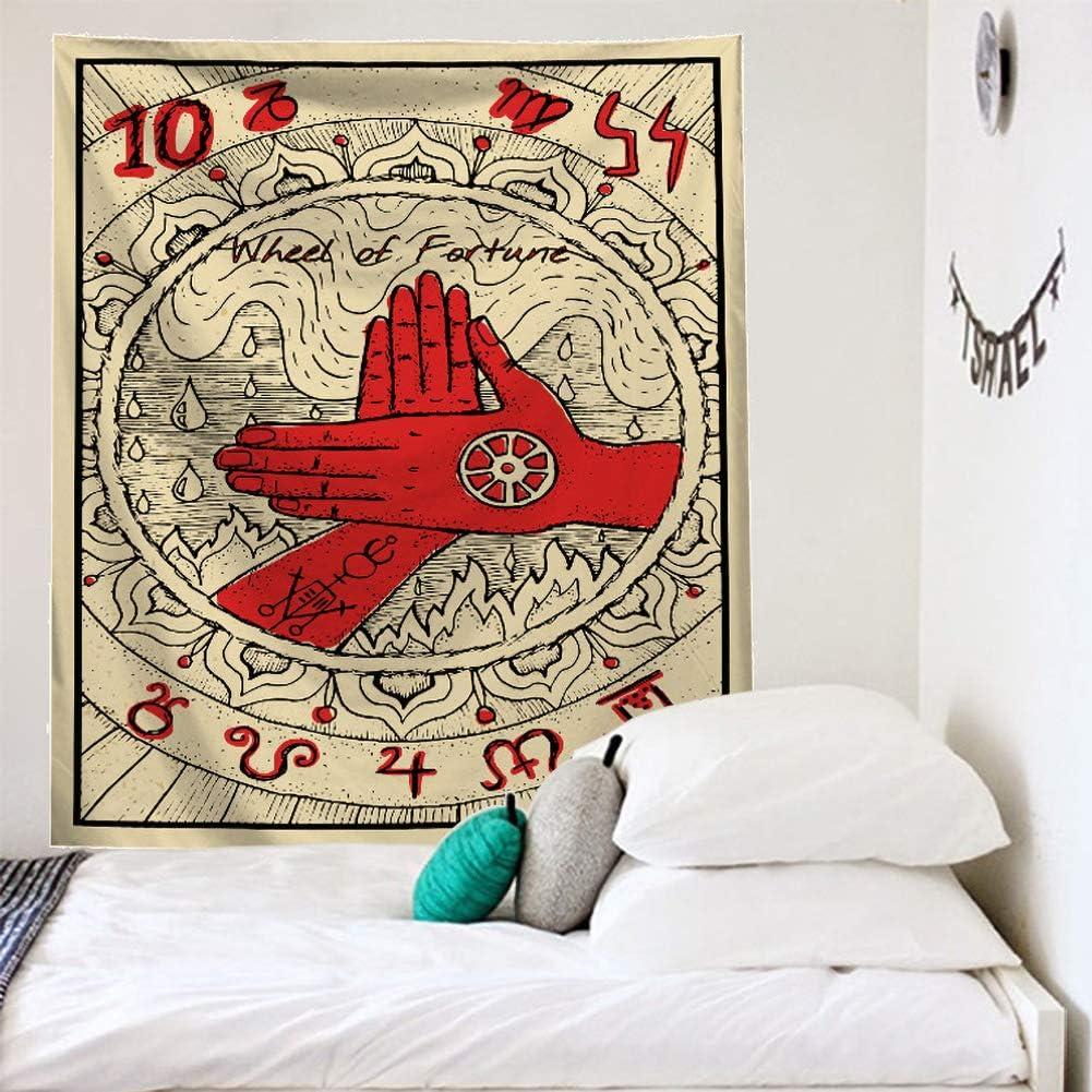 LLQ Tarot Tapisserie Murale Tapisserie leurope M/édi/évale Divination Tapisserie D/écoration Tenture D/écorations Myst/érieux pour La E,95 * 73cm