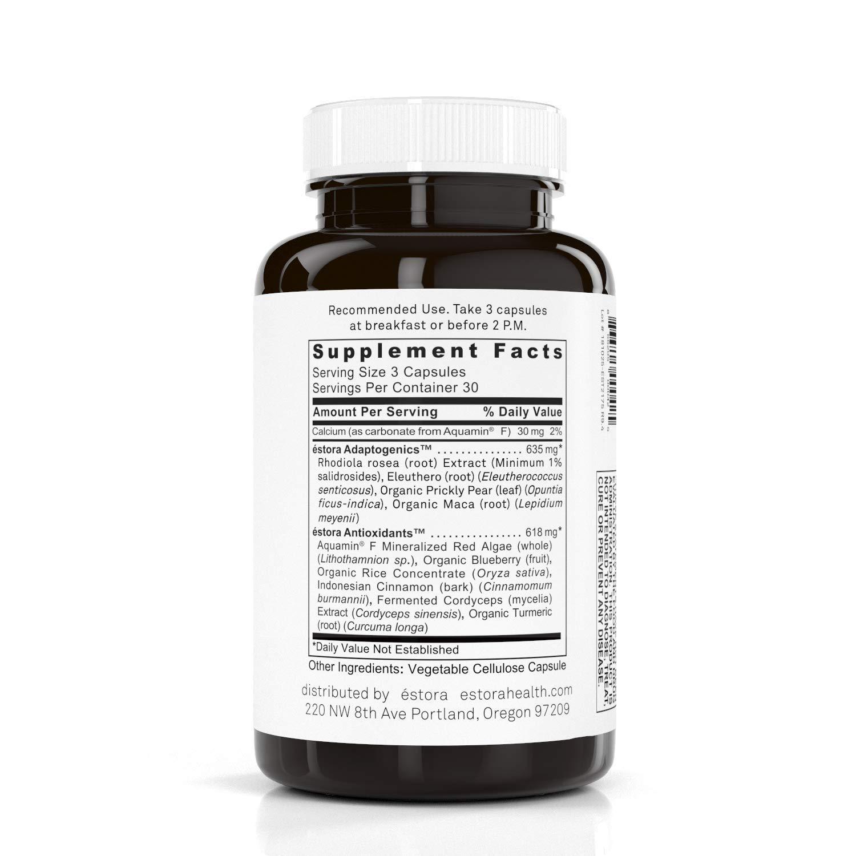ESTORA Balance Adrenal & Stress Support Supplement (90 Vegetable Capsules)