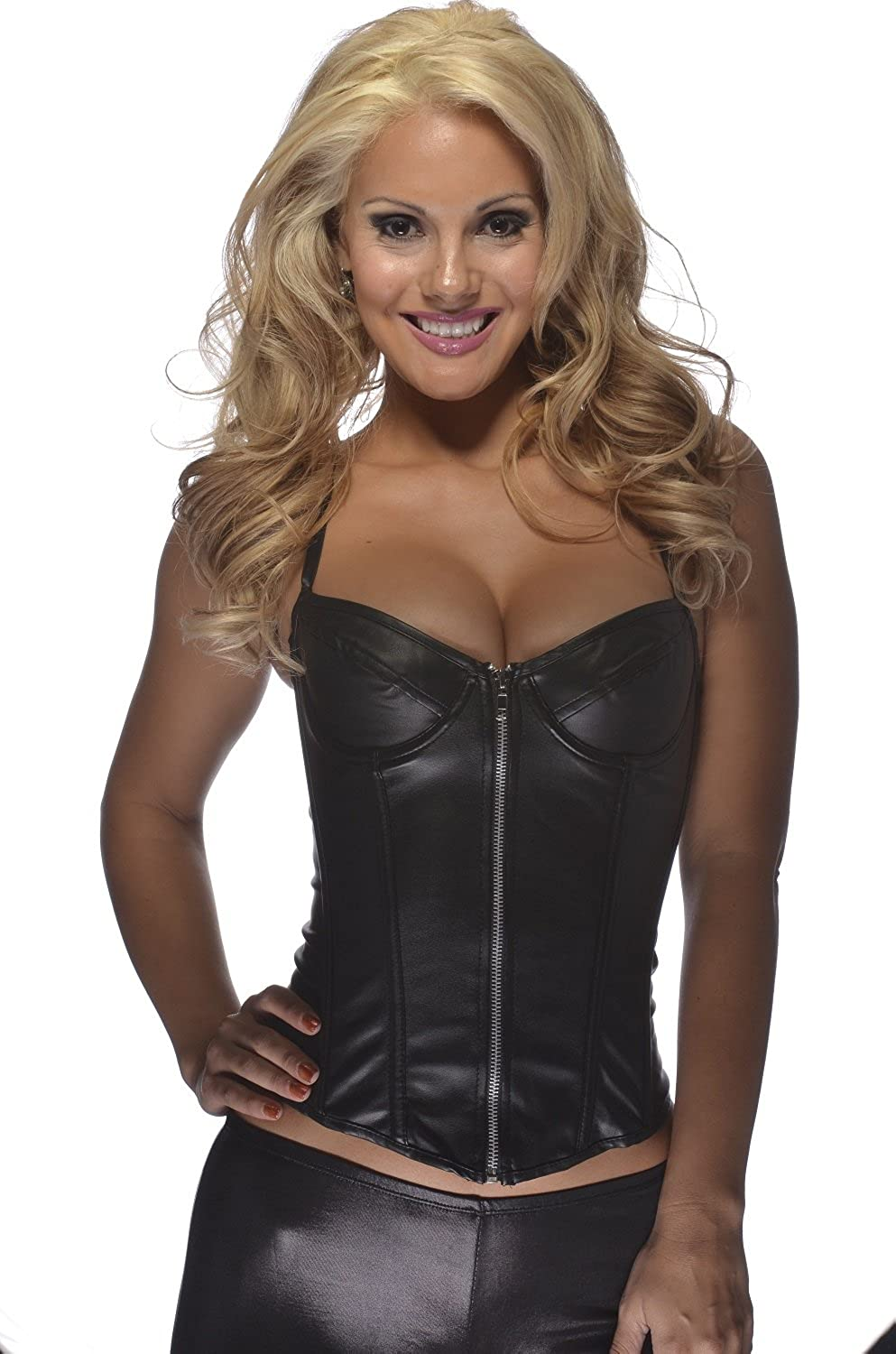 Bonitaz womens plus-size Leather Corset With Adjustable Straps Bonitaz Costumes #021