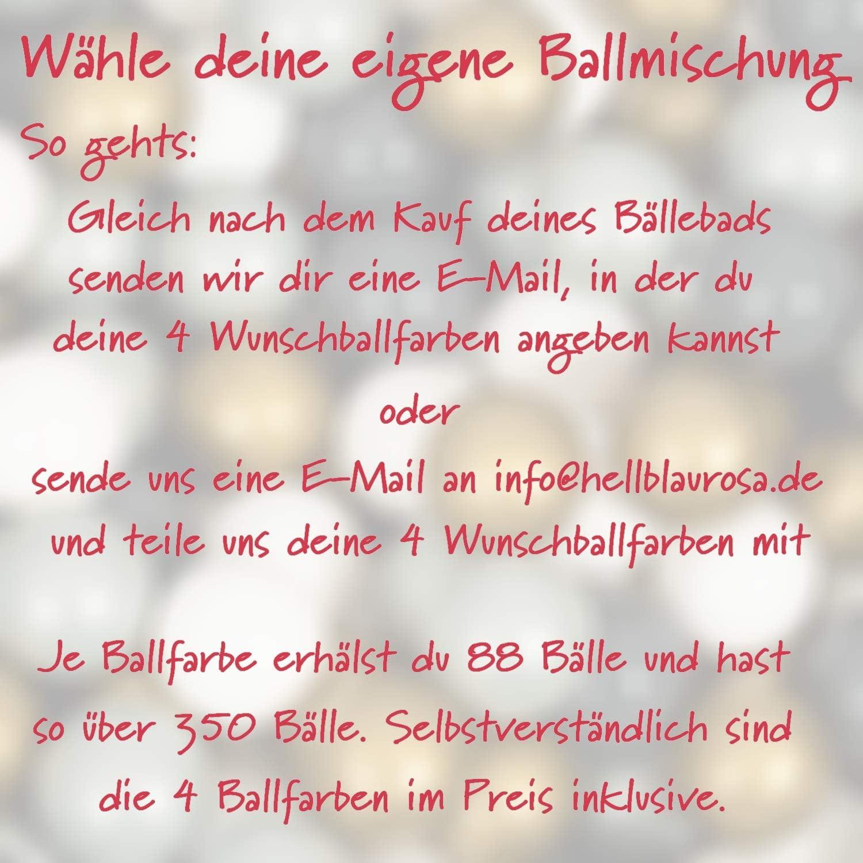 Made in Germany// Augsburg mit /über 350 B/ällen in deinen 4 Wunschfarben snugo Rundes B/ällebad in Mint