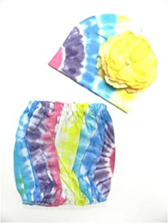 Jamie Rae Hats Tie Dye Pipette Sets with Yellow Large Rose