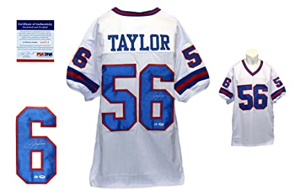 658e256efaf Image Unavailable. Image not available for. Color  Lawrence Taylor  Autographed Signed Custom Jersey ...