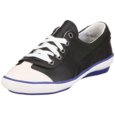 Puma 351042 03 917 Mini Leather Wn s Womens Trainers Black Size  8.5 UK   Amazon.co.uk  Shoes   Bags b4fce0c21069
