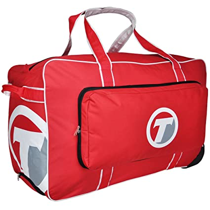 74abdd176ae Amazon.com   TronX Velocity Wheeled Hockey Equipment Bag (Red ...