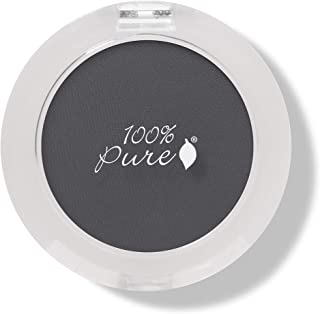 product image for 100% PURE Pressed Powder Eye Shadow (Fruit Pigmented), Bamboo Charcoal, Shimmer Eyeshadow, Buildable Pigment, Easy to Apply, Natural Makeup (Matte Pewter Gray w/Blue Undertones) - 0.07 oz