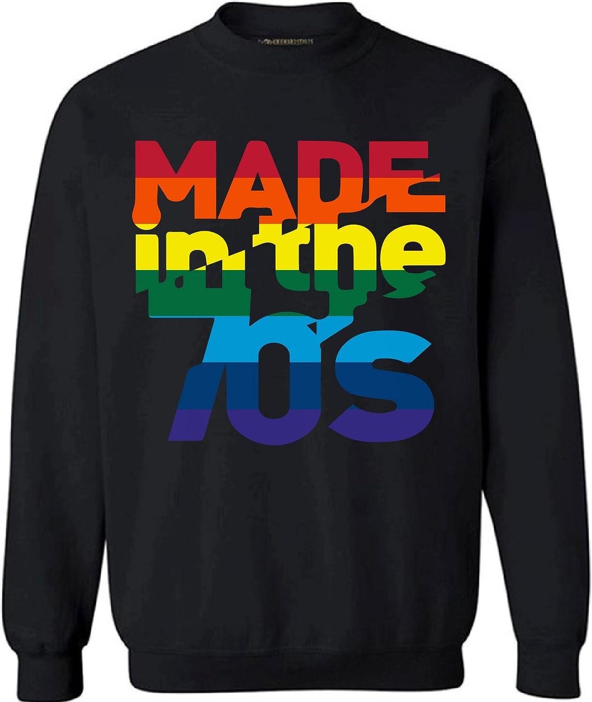 Awkward Styles Unisex Made in The 70's Rainbow Sweatshirt Crewneck 70s Birthday Cool Party Idea
