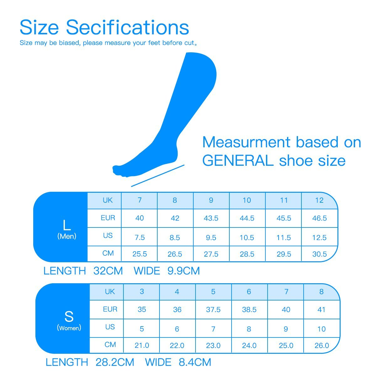 HLYOON Gel Sports Insoles for Foot Pain and Fasciitis Relieve, Full Length Comfort Inserts for Heel Protection, Shock Absorption, Shoe Inserts 1 Pair, Size 7.5-14 by HLYOON (Image #7)