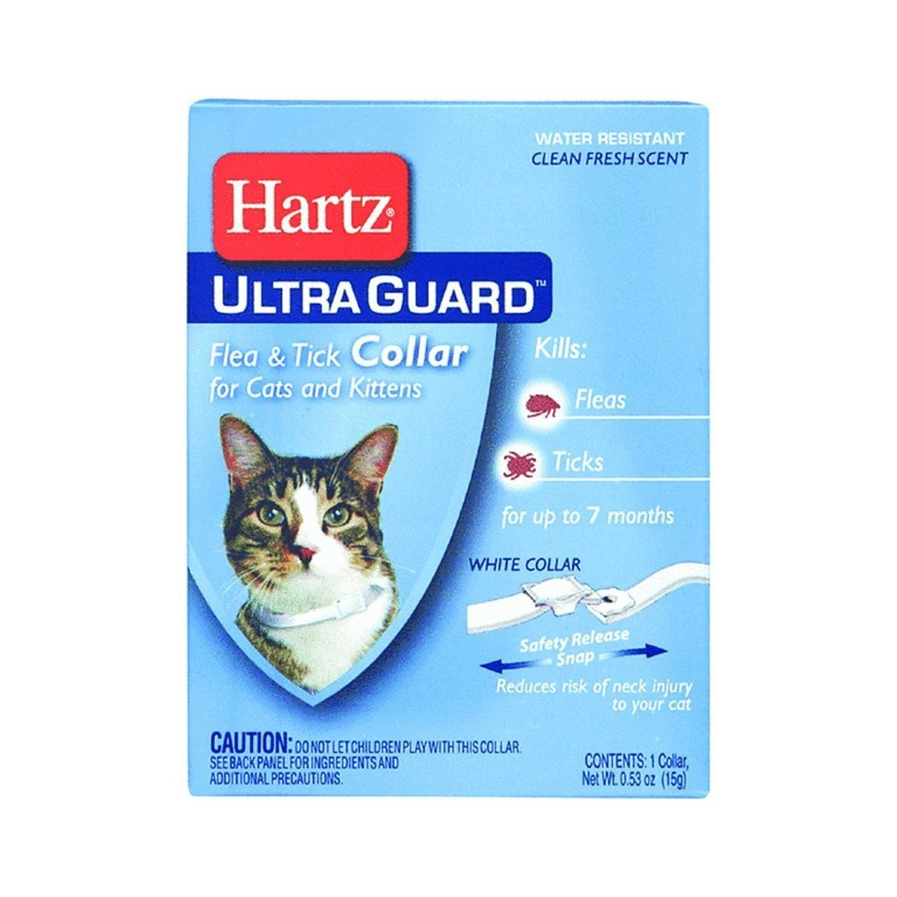 HARTZ Ultra Guard Flea & Tick Collar for Cats and Kittens (White Color)