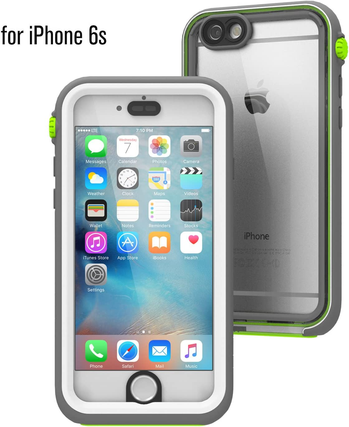 Catalyst Waterproof case for iPhone 6s, Shock Proof, Drop Proof for iPhone 6s with High Touch Sensitivity ID (Green Pop)