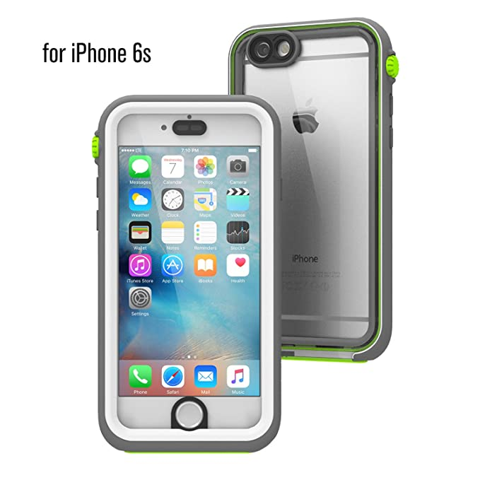 los angeles 85fd4 c5d50 iPhone 6s Waterproof Case, Shock Proof, Drop Proof by Catalyst for Apple  iPhone 6s with High Touch Sensitivity ID (Green Pop)