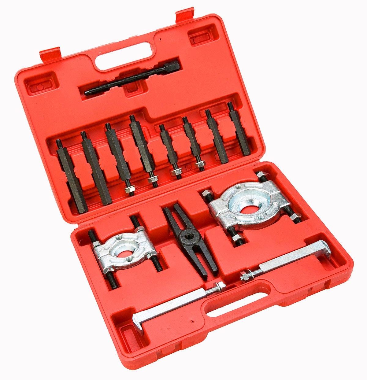 FreeTec Estrattore cuscinetti separatori Set di attrezzi estrattore cuscinetti Kit,14 pezzi