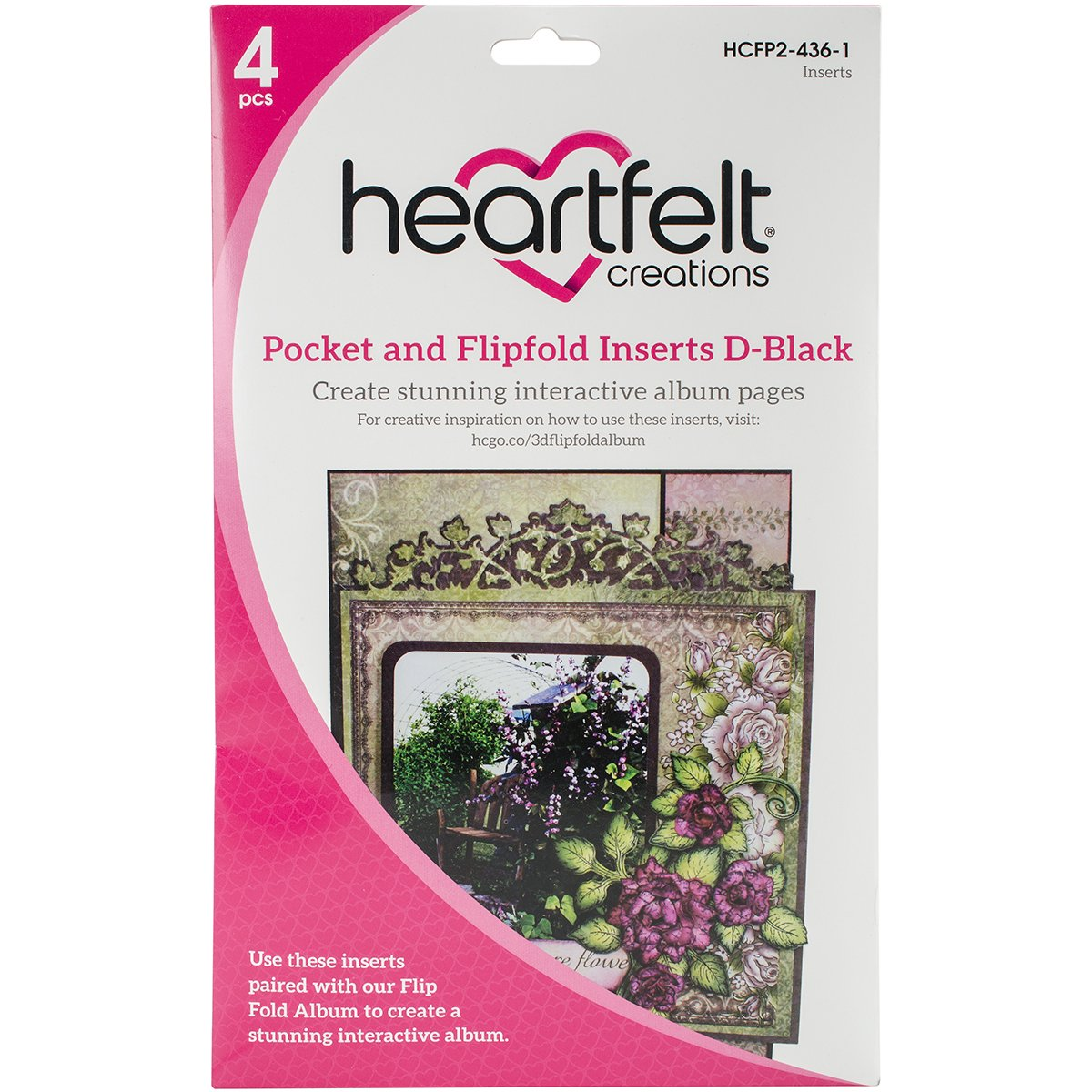 Heartfelt Creations D-Black Flipfold Inserts