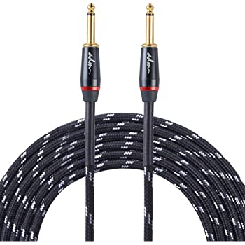 adm guitar cable 10 ft 1 4 straight to straight musical instruments electric bass. Black Bedroom Furniture Sets. Home Design Ideas