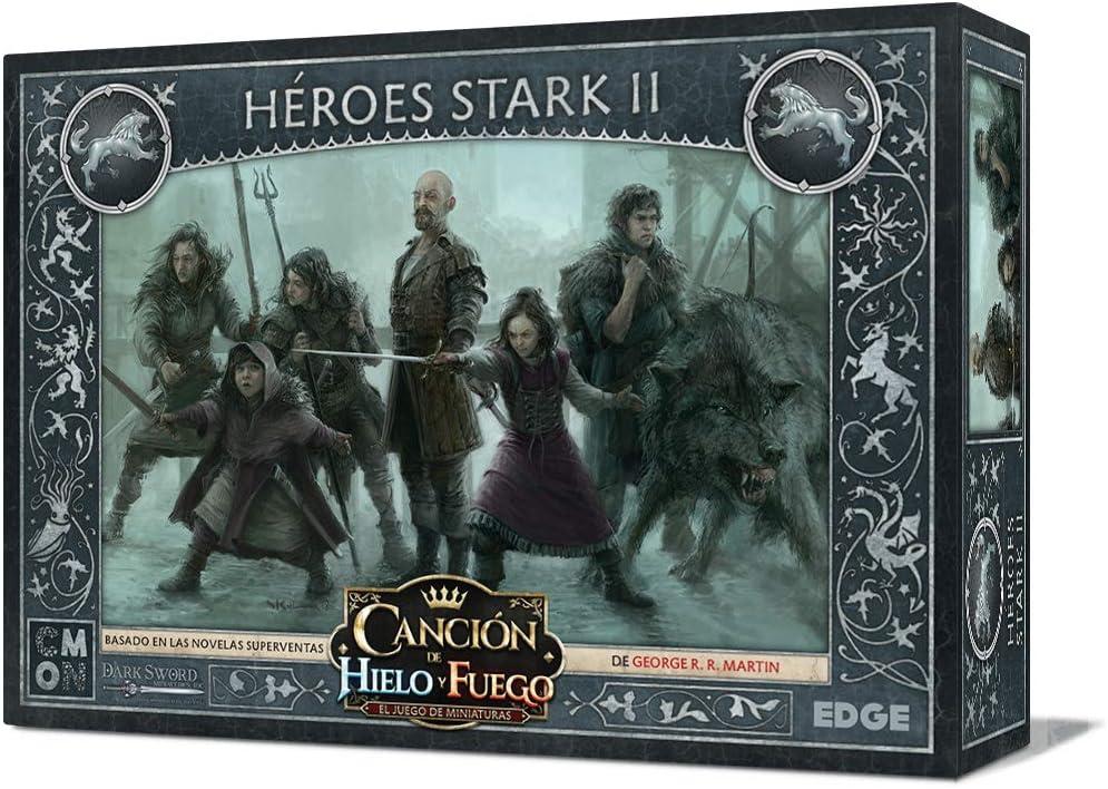 Edge Entertainment- Canción de Fuego y Hielo el Juego de Miniaturas - Héroes Stark II, Color (EECMSI10): Amazon.es: Juguetes y juegos