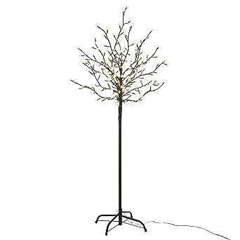 Led Weihnachtsbeleuchtung Baum.Nipach Gmbh 200 Led Baum Mit Blüten Blütenbaum Lichterbaum Warm Weiß