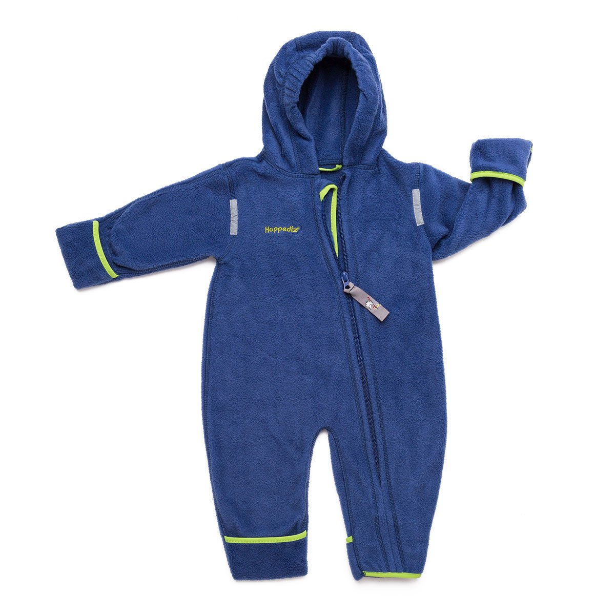 HOPPEDIZ Fleece-Overall 48-52 anthrazit O-48-ant