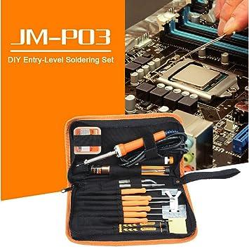 Kit de soldadura de hierro 30 W Electrónica de soldadura hierros Herramienta para Jakemy JM-