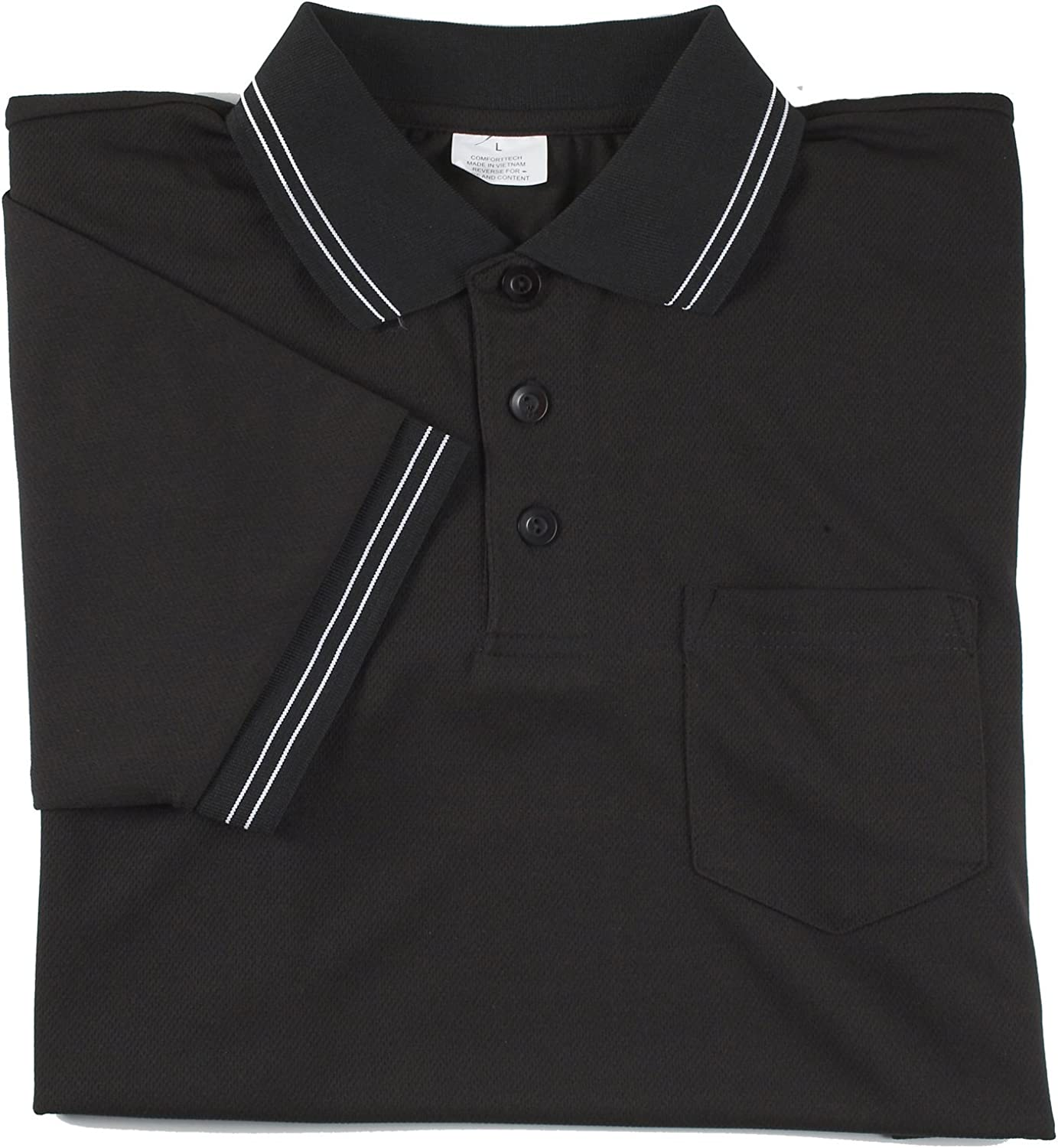 Black, XX-Large Adams USA Smitty Major League Style Short Sleeve Umpire Shirt with Front Chest Pocket