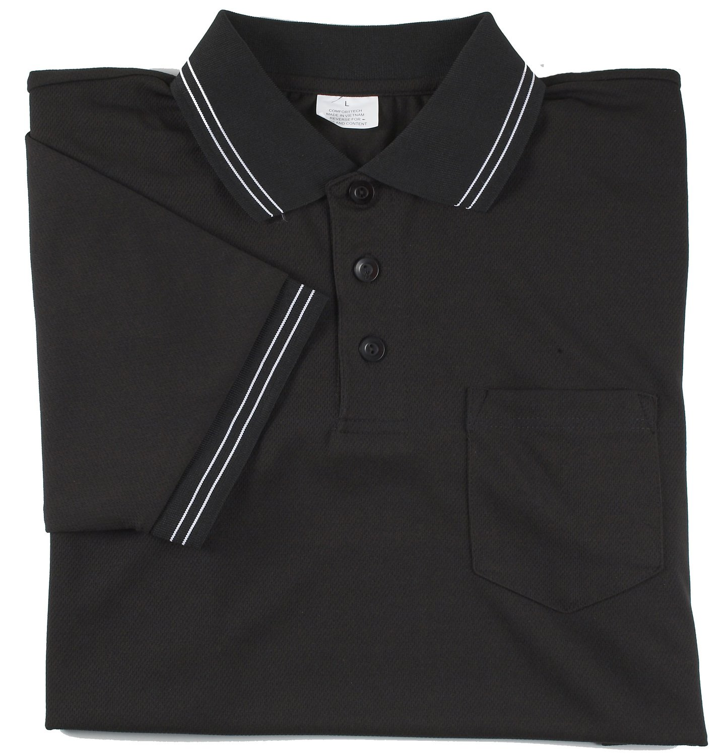 Adams USA Smitty Major League Style Short Sleeve Umpire Shirt with Front Chest Pocket (Black, 4X-Large)