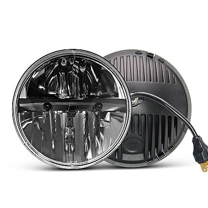 Par de faros delanteros LED (de 18 cm, con 6000 K de luz de ...