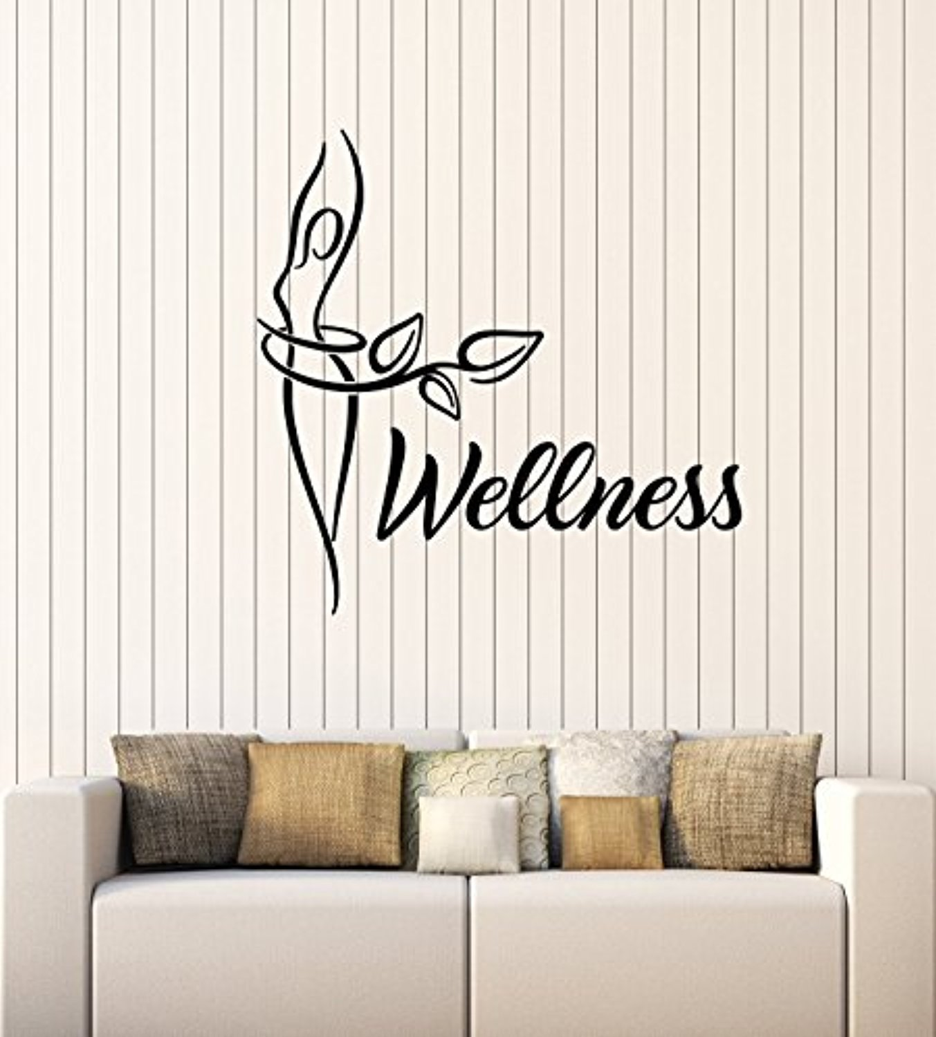Art of Decals Wellness Vinyl Wall Decal Center Spa Beauty Salon Healthy Lifestyle Diet Stickers Mural Large Decor 309