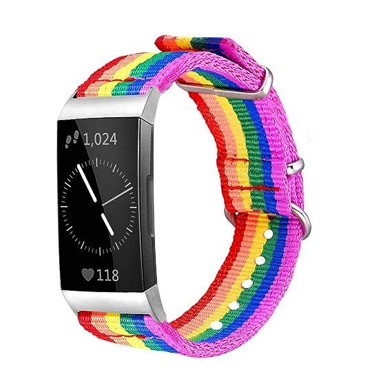 Bandmax Rainbow Bands Montre connectée Fitbit Charge 3, LGBT ...