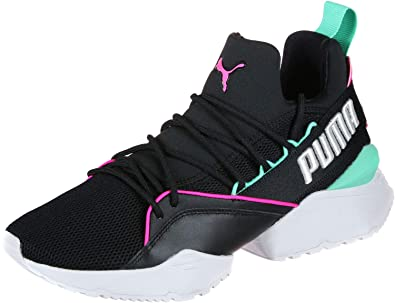 Puma Women s Muse Maia Street 1 Wn s Black-Knockout Pink-Biscay Green  Sneakers 34887982c
