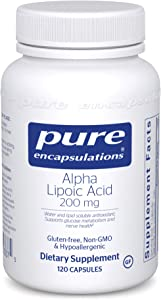 Pure Encapsulations - Alpha Lipoic Acid 200 mg - Hypoallergenic Water- and Lipid-Soluble Antioxidant Supplement - 120 Capsules