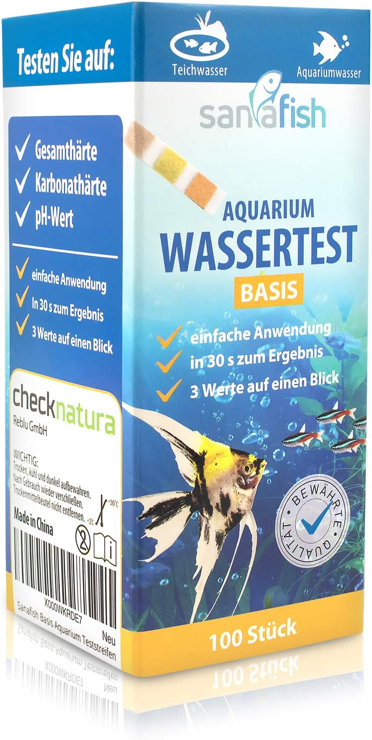 10 Teststreifen für Wassertest 5 in1 Qualitättest Aquaristik €0,19//St Teich