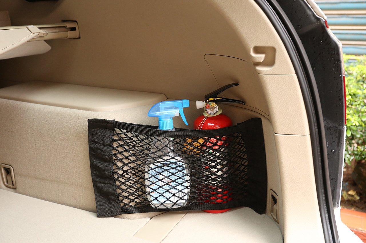 2 Pack GraceMe Car Cargo Trunk Seat Back Storage Net Bag Organizer Pocket With Magic Sticker