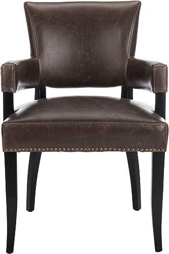 Safavieh Mercer Collection Desa Arm Chair, Antique Brown