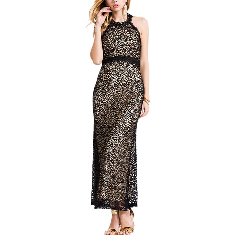 Tasso Damen Einfarbig Naht sleeveless Sommerkleid Frauen