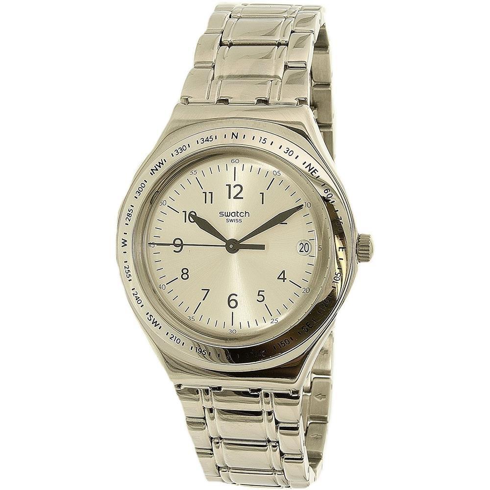 Swatch Women s Silver Joe YGS471G Silver Stainless-Steel Swiss Quartz Watch